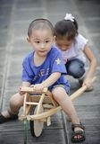 Asian boy and girl happy play Stock Images