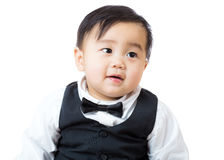 Asian boy. Isolated on white Stock Photography