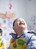 Asian boy learning the painting Stock Photography
