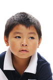 Asian Boy looking away. Asian boy from philippines looking serious Royalty Free Stock Photos