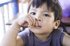 Asian Boy looking at you Royalty Free Stock Photography