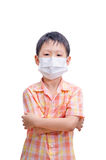 Asian boy in medicine healthcare mask Stock Photo