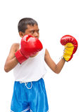 Asian boy. Boy asian playing sports boxing Royalty Free Stock Photos