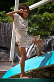 Asian Boy Posing Royalty Free Stock Photo