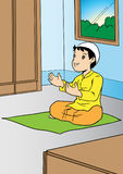 Asian boy praying Stock Images
