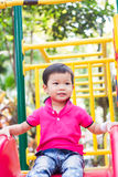 Asian boy relax in the park Stock Photography