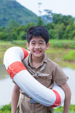 Asian boy scout Stock Image