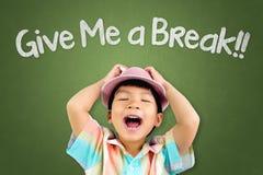 Asian boy is screaming for a break. Little Asian boy is screaming for a break Royalty Free Stock Image
