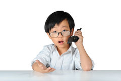 Asian boy showing surprised expression Stock Image