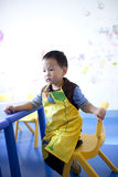 Asian  boy siting at the painting learning room Royalty Free Stock Photography