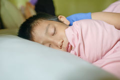 Asian boy sleeping. Royalty Free Stock Photo