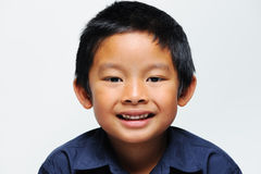 Asian boy smiling. Close up of face Royalty Free Stock Photo