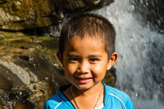 Asian boy smiling stock photo