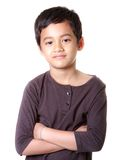 Asian boy with smiling face. On white background Stock Photography