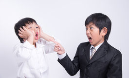 Asian boy staff boss Royalty Free Stock Images