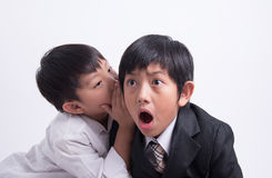Asian boy staff boss Stock Photo