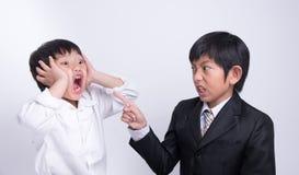 Asian boy staff boss Stock Image