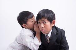 Asian boy staff boss Royalty Free Stock Photos