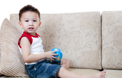 Asian boy with toy Stock Photos