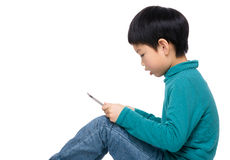 Asian boy using tablet computer Stock Photography