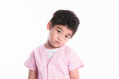 Asian boy - various images of isolation Royalty Free Stock Photography