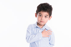 Asian boy - various images of isolation. Shot royalty free stock image