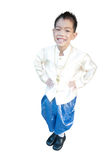 Asian boy wearing national dress. Stock Image