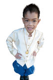 Asian boy wearing national dress. Stock Photos