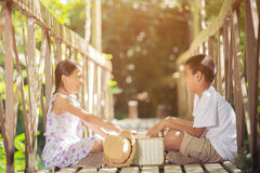 Asian boys and girls Reading a book Royalty Free Stock Images