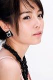 Asian braces girl. A beautiful asian braces girl close up Royalty Free Stock Photo