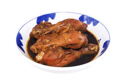 Asian braised chicken drumstick Royalty Free Stock Image