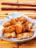 Asian braised pork belly Royalty Free Stock Images