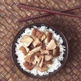 Asian braised pork rice Stock Images