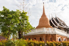 Asian brick pagoda and temple architecture Royalty Free Stock Photo