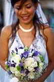 Asian Bride with flower Royalty Free Stock Images