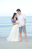 Asian bride and groom Stock Photos