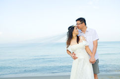 Asian bride and groom Royalty Free Stock Photos
