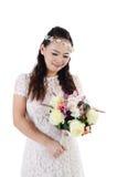 Asian bride. At indoor studio Royalty Free Stock Photos