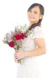 Asian bride. At indoor studio Stock Images