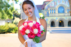 Asian Bride at Wedding Stock Image