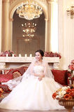 Asian bride. In the wedding dress Stock Photography