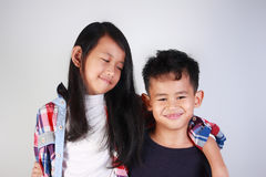 Asian Brother and Sister Royalty Free Stock Images