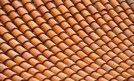 Asian brown ceramic roof tiles texture Stock Photography