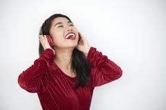 Young woman singing stock photos