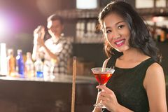 Asian brunette Royalty Free Stock Images