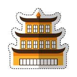 Asian building castle icon Stock Photography