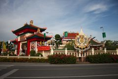 Asian building. Traditional asian colourful building in Thailand Stock Image