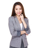 Asian business assistant Royalty Free Stock Images