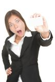 Asian Business card woman isolated Stock Photo