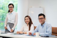Asian business colleagues Royalty Free Stock Photo